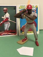 1989 Starting lineup Ozzie Smith figure Toy W/ Topps Card St Louis Cardinals