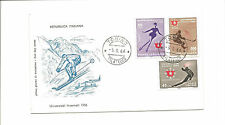 1966 Italy unaddressed FDC  winter sports #2
