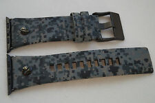 LUXURY DIESEL GENUINE LEATHER CAMOUFLAGE ARMY BAND STRAP FOR APPLE WATCH 42MM