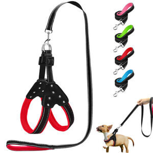 Step In Dog Harness and Walking Lead Padded Pet Puppy Reflective Strap Vest S-L