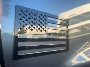 American Flag Emblem Decal Black Badge fits Dodge Ram 1500, 2500, 3500 TRX 2pc