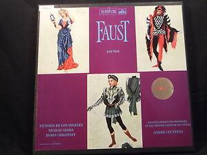 C. Gounod - Faust / Cluytens   4 LP-Box (HMV, 2nd Label)