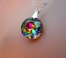 Swarovski Elements Crystal in Medium Vitrail  Pendant Necklace Vibrant Color