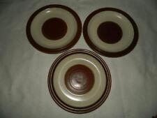 "3 Denby Potters Wheel Rust Dinner Plates 10 1/8"" England Free Ship"