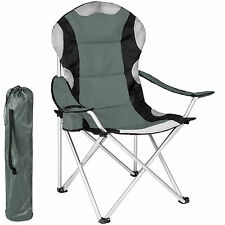 TecTake Folding Upholstered Camping Chair With Drink Holder & Bag Ø Frame About 18 Mm