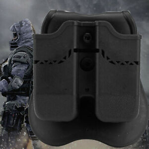 OWB Double Magazine Pouch Holder for Glock 17/19/22/9mm/.40 Mags Paddle Holster