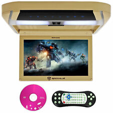 "Rockville RVD10HD-BG 10.1"" Flip Down Monitor reproductor de DVD, Hdmi, Usb, Juegos, Led"