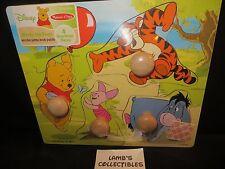 Disney Melissa & Doug Winnie the Pooh & Friends wooden jumbo knob puzzle toy