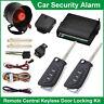 Universal Car Security Alarm System Immobiliser Central Locking Kit 2 Remotes UK