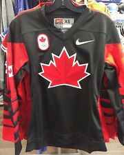 2018 Team Canada IIHF Hockey Olympic Black Jersey Player Women's/Ladies X-Large