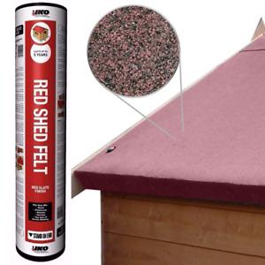 IKO Shed Felt   Red 8m x 1m   Garden Roofing Felt Bitumen Roof Sheet