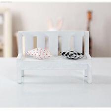 Mini Miniatures Wooden Garden Outdoor Chair Bench Accessories Furniture Park