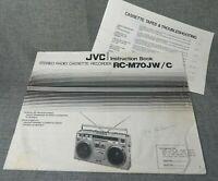 JVC Stereo Radio Cassette Recorder RC-M70JW/C Instruction Book Manual