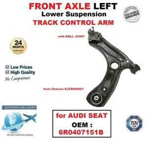 FRONT AXLE LEFT Lower SUSPENSION WISHBONE ARM for AUDI SEAT OEM : 6R0407151B