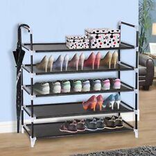 5 Tier Metal Shoe Rack Tower Shelf 25 Pairs Storage Cabinet Organizer Stand
