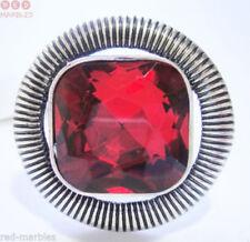 Anillos de bisutería color principal rojo de piedra