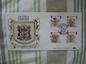 """AN ATTRACTIVE BENHAM """"HERALDRY"""" FIRST DAY COVER 17/1/1984: CARDIFF CANCEL: VGC"""