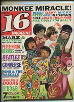 16 Magazine Dec 1967 Herman Hermits Monkees Jim Morrison Dino Desi Billy  MBX89