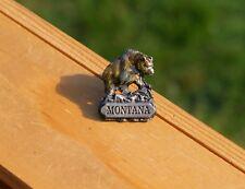 Montana Bear Silver Tone Metal 1997 Siskiyou Lapel Pin Pinback