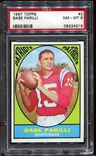 1967 Topps Football #2 BABE PARILLI Boston Patriots PSA 8 NM-MT