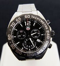 Tag Heuer Formula 1 Chronograph Black Dial Stainless Mens Quartz Watch CAZ1110