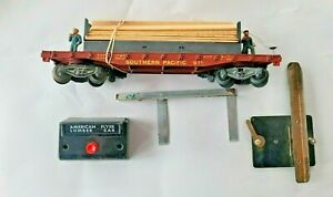 American Flyer 971 So. Pacific Lumber Unloading Flatcar With Original Brown Box