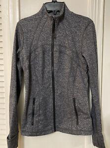 Lululemon Define Jacket Heathered Gray Full Zip Women's Size 6 Slim Fit