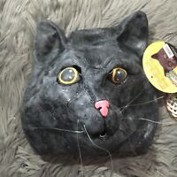 Black Jack Cat Mask  Soft Latex Rubber Theatre Costume Prop - Big Mouth Toys NWT