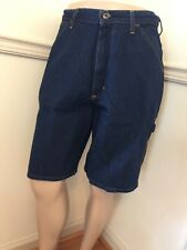 NWT Men's Polo Ralph Jeans Carpenter Blue Jean Shorts Tag 32 / Measure 34 D Ring