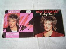 """2 x 7"""" - Rod Stewart / Baby Jane & What am i gonna do # 2390"""