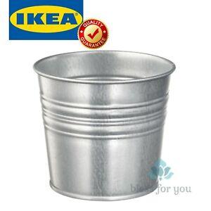 IKEA SOCKER Plant Pot Indoor Outdoor Galvanized Different Size