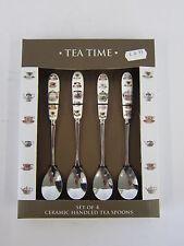Leonardo Collection Tempo per tè Set di 4 ceramica con maniglia tè cucchiai