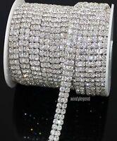 1 Yard 2 Rows SS16 Diamante Rhinestone Chain Cake Banding Trim Cake Decoration