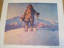 "Fred Machetanz ""Hunter's Dawn"" Limited Edition Alaskan Artist Lithograph"