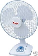 Ventilatore da Tavolo 40cm OSCILLANTE diametro pale 40 3 velocità 45 Watt Sirge