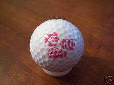 Logo Golf Ball-3 Pink/White Fish.