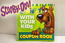 Scooby Doo Connect with your Kids Fun Coupon Book! Lot of 2 - BRAND NEW