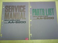 Vtg Akai Service/Repair Manual~AA-6200 Amp Amplifier~Original