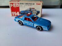 TOMICA 114  - CHEVROLET CAMARO Z28 POLICE [BLUE] CAR MINT VHTF BOX GOOD JAPAN