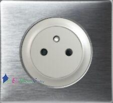 Prise affleurante 2P+T 16A Legrand Céliane aluminium complet 67132+80251+68921