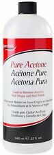 Super Nail Pure Acetone 32 oz (Pack of 2)