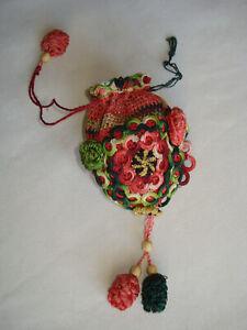 antique Regency crochet purse bag from Russia  - Biedermeier Täschchen