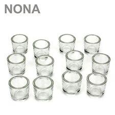 12er Set NONA 6cm Teelichtglas Glas Farbe Klar Kerzenglas Windlicht Kerzengläser