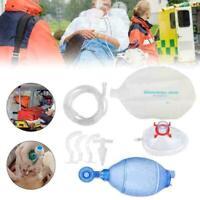 2000ml Manual Resuscitator PVC Ambu Bag Oxygen Tube CPR First Aid Kit For Adult