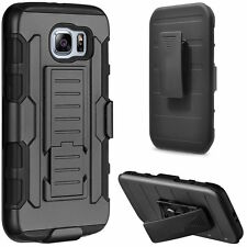 3in1 Tough Military Builder Armor Stand Belt Case for Samsung Galaxy S7 Edge