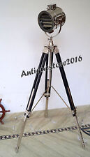 NAUTICAL HOLLYWOOD THEATER SEARCHLIGHT TRIPOD STAND SPOTLIGHT HOME DECOR ..
