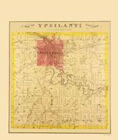 Ypsilanti County Michigan - Everts 1874 - 23.00 x 27.19