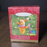 Winnie the Pooh Ornament Pooh Chooses the Tree Keepsake Ornament Hallmark