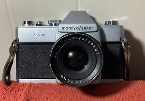Mamiya Sekor 500 DTL Camera 50mm F 1:2 Lens Vintage