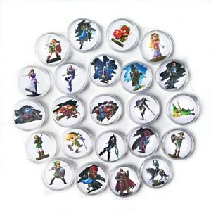 24pcs The Legend of Zelda Breath of the Wild NFC Collection Coin Tag For Amiibo